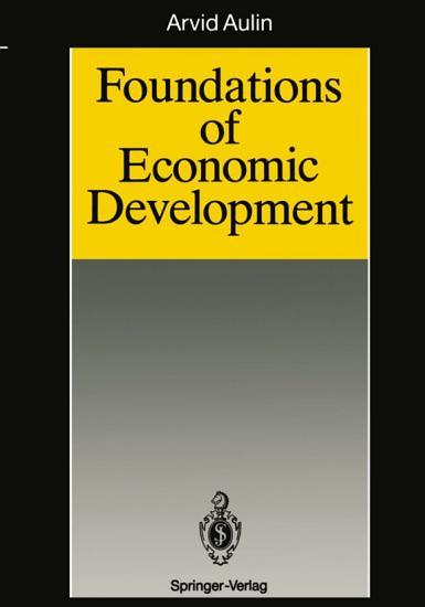 Foundations of Economic Development PDF