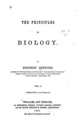 The Principles of Biology PDF