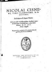 De Friderico II. Imper. Oratio: habite in Heidelbergensi Academia anno 1562 mense Augusto