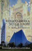 Religious America  Secular Europe  PDF