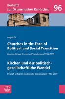Churches in the Face of Political and Social Transition    Kirchen und der politisch gesellschaftliche Wandel PDF