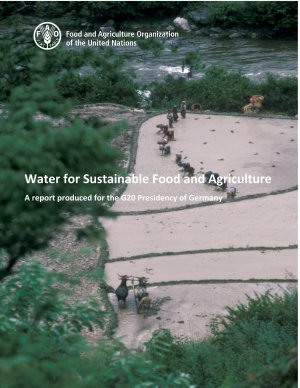 Water for sustainable food and agriculture