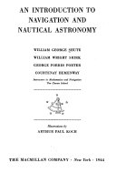 An Introduction to Navigation and Nautical Astronomy