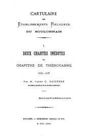 Cartulaire des établissements religieux du Boulonnais: Volumes1à3