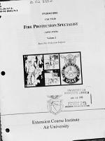 Fire protection specialist  AFSC 57150  PDF