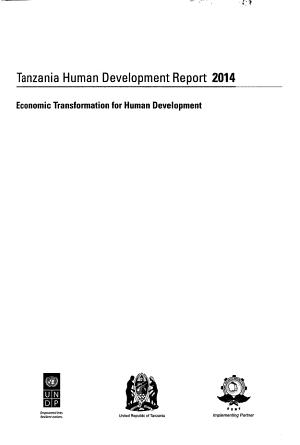 Tanzania Human Development Report 2014