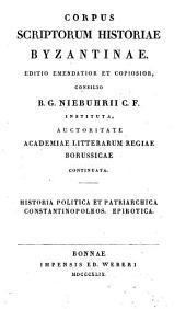 Historia politica et patriarchica Constantinopoleos ; Epirotica: Volume 49