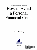 How to Avoid a Personal Financial Crisis PDF