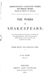 The Works of Shakespeare ...