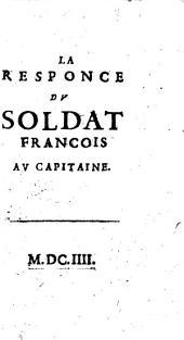 La Responce Dv Soldat Francois Av Capitaine