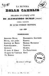 La signora delle camelie dramma in cinque atti di Alessandro Dumas figlio