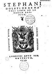 Stephani Doleti de Re navali liber ad Lazarum Bayfium