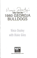 Vince Dooley s Tales from the 1980 Georgia Bulldogs PDF