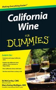 California Wine For Dummies Book