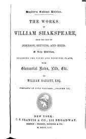 The Works of William Shakspeare: Volume 3