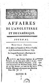 Affaires De L'Angleterre Et De L'Amerique: Volume1;Volume9