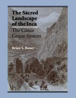 The Sacred Landscape of the Inca PDF