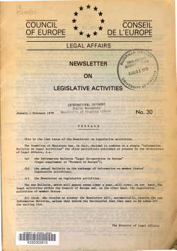 Newsletter on Legislative Activities PDF
