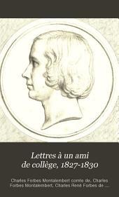 Lettres à un ami de collège-1827-1830