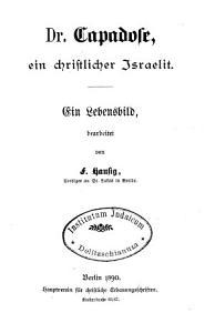 Dr   Abraham  Capadose  ein christlicher Israelit PDF