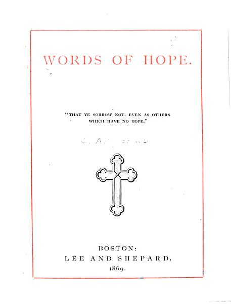 Download Words of Hope Book
