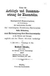 Ueber die Aetiologie und Zusammensetzung der Blasensteine: Inaugural-Dissertation