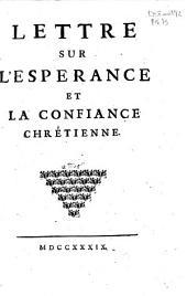 Lettre sur l'espérance et la confiance chrétienne