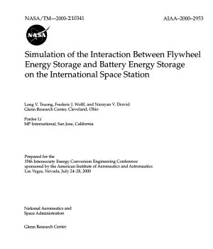 Simulation of the Interaction Between Flywheel Energy Storage and Battery Energy Storage on the International Space Station