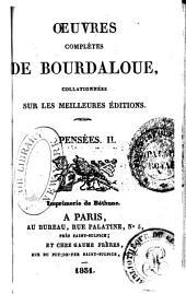 Oeuvres complètes de Bourdaloue: Volumes29à30