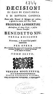 Decisioni di casi di coscienza e di dottrina canonica: Volume 1
