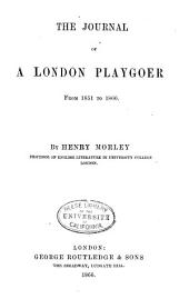 The Journal of a London Playgoer from 1851-1866