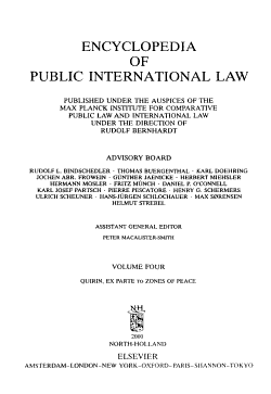 Encyclopedia of Public International Law PDF
