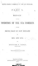 Report on the conditions of the sea fisheries of the south coast of New England