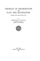 Sources of Information on Play and Recreation PDF