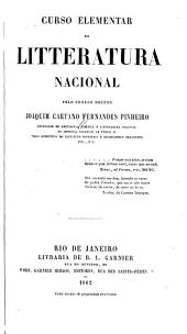 Curso elementar de litteratura nacional