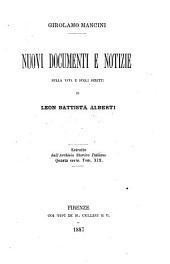 Nuovo documenti e notizie sulla vita e sugli scritti di Leon Battista Alberti