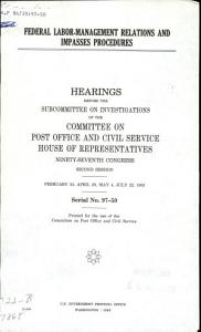 Federal Labor management Relations and Impasses Procedures PDF