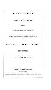 Catalogus Collegii Bowdoinensis