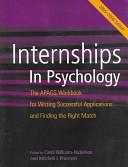 Internships in Psychology Book