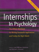 Internships in Psychology Book