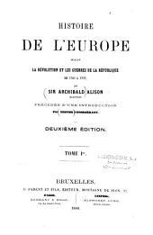 Histoire de l'Europe durant la Révolution et les guerres de la République de 1789 à 1797