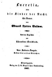 Sämmtliche Romane: Lucretia, oder die Kinder der Nacht ; 1/3, Bände 97-99