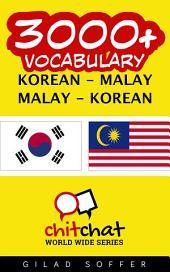 3000+ Korean - Malay Malay - Korean Vocabulary