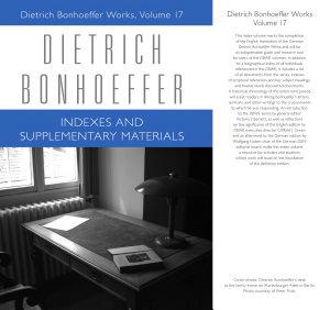 Dietrich Bonhoeffer Works