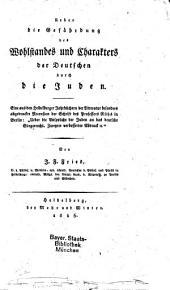 Über die Gefährdung des deutschen Wohlstandes und Charakters durch die Juden