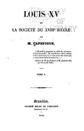 Louis XV et la société du XVIIIe siècle: I-III, V.