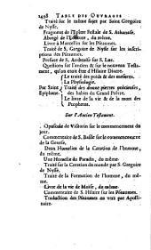 NOUVELLE BIBLIOTHEQUE DES AUTEURS ECCLESIASTIQUES: CONTENANT L'HISTOIRE DE LEUR VIE, LE CATALOGUE, LA CRITIQUE, ET LA CHRONOLOGIE DE LEURS OUVRAGES: LE SOMMAIRE DE CE QV'ILS CONTIENNENT, UN JUGEMENT SUR LEUR STILE, & SUR LEUR DOCTRINE, & LE DÉNOMBREMENT DES DIFFERENTES EDITIONS DE LEURS OEUVRES.. Des Auteurs du quatriéme siécle de l'Eglise, TROISIÉME PARTIE, Volume2