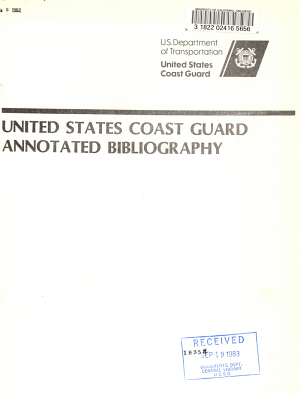 United States Coast Guard Annotated Bibliography PDF