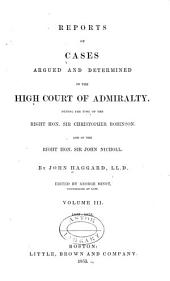 Reports of Cases Argued and Determined, 1798-1850: Volume 1; Volume 3; Volume 8