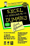 Excel For Windows 95 For Dummies PDF